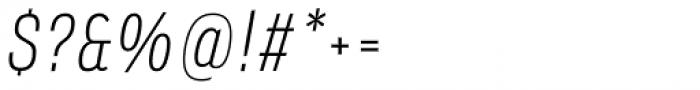 Verbatim Narrow Light Oblique Font OTHER CHARS