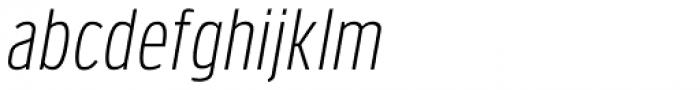 Verbatim Narrow Light Oblique Font LOWERCASE