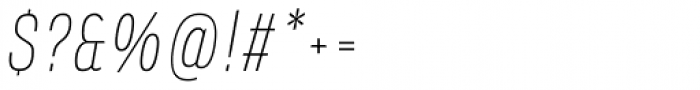 Verbatim Narrow Thin Oblique Font OTHER CHARS
