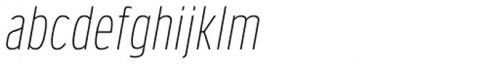 Verbatim Narrow Thin Oblique Font LOWERCASE