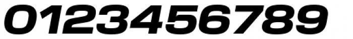 Verbatim Wide Black Oblique Font OTHER CHARS