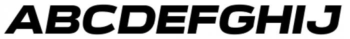 Verbatim Wide Black Oblique Font UPPERCASE