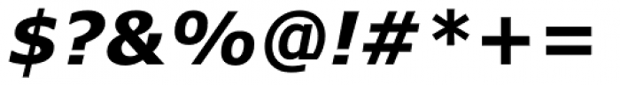 Verdana Bold Italic Font OTHER CHARS