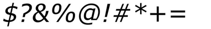 Verdana Italic Font OTHER CHARS