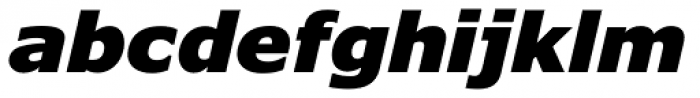 Verdana Pro Black Italic Font LOWERCASE