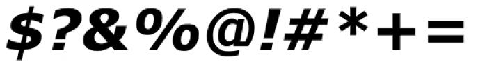 Verdana Pro Bold Italic Font OTHER CHARS