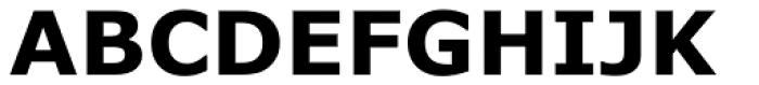 Verdana Pro Bold Font UPPERCASE