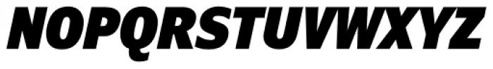 Verdana Pro Condensed Black Italic Font UPPERCASE