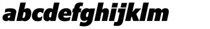 Verdana Pro Condensed Black Italic Font LOWERCASE