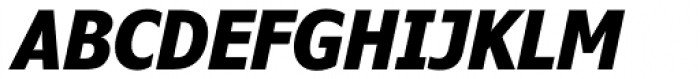 Verdana Pro Condensed Bold Italic Font UPPERCASE