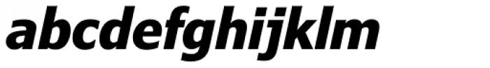 Verdana Pro Condensed Bold Italic Font LOWERCASE