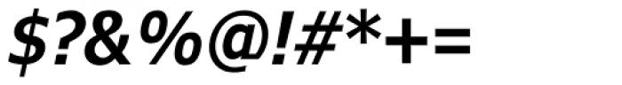 Verdana Pro Condensed SemiBold Italic Font OTHER CHARS