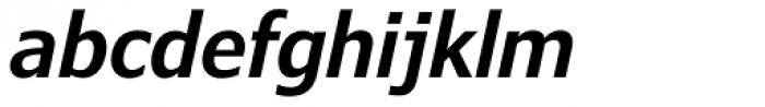 Verdana Pro Condensed SemiBold Italic Font LOWERCASE