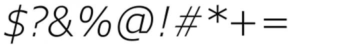 Verdana Pro Light Italic Font OTHER CHARS