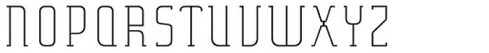 Verismo Light Extended Font UPPERCASE