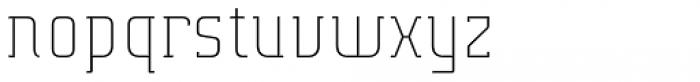 Verismo Light Extended Font LOWERCASE