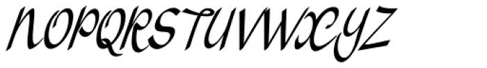 Vernaccia Condensed Italic Font UPPERCASE