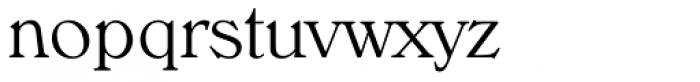 Verona TS ExtraLight Font LOWERCASE
