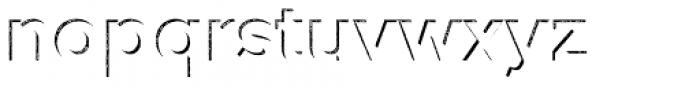 Versatile Inside Shadow Rust Bold Font LOWERCASE