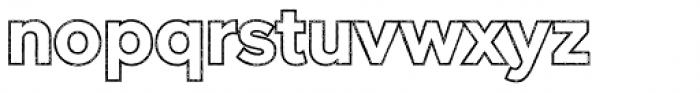 Versatile Outline Rust Bold Font LOWERCASE