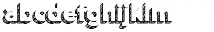Versatile Shadow Hatch Bold Font LOWERCASE