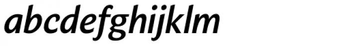 Verse Sans SemiBold Italic Font LOWERCASE