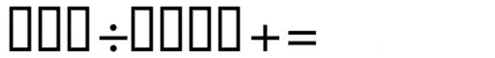 Vershen Fractions Oblique Font OTHER CHARS