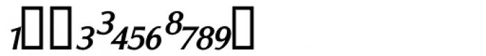 Vershen Fractions Oblique Font LOWERCASE