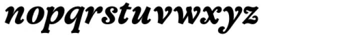 Versina Black Italic Font LOWERCASE