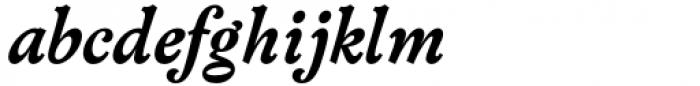 Versina Extra Bold Italic Font LOWERCASE