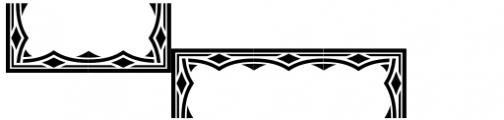 Versina Ornaments Black Font UPPERCASE