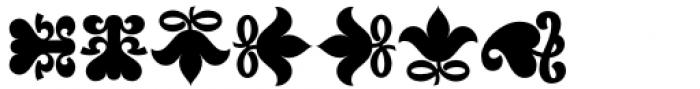 Versina Ornaments Black Font LOWERCASE