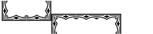 Versina Ornaments Regular Font UPPERCASE