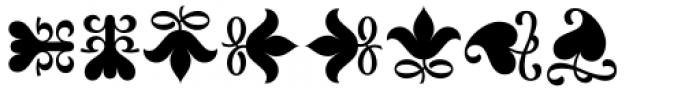 Versina Ornaments Regular Font LOWERCASE
