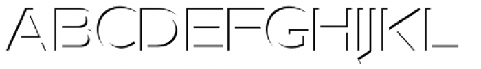 Version 1 International Shadow Font UPPERCASE