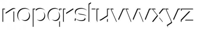 Version 1 International Shadow Font LOWERCASE