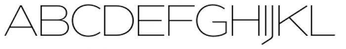 Version 1 International Thin Font UPPERCASE