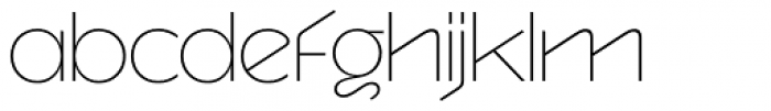 Version 1 International Thin Font LOWERCASE