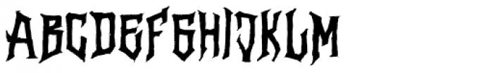 Vertigo Death Font UPPERCASE