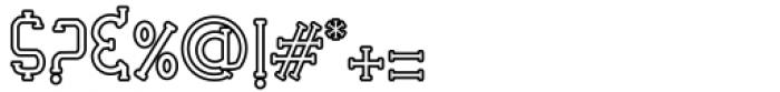 Veruzza Hollow Regular Font OTHER CHARS