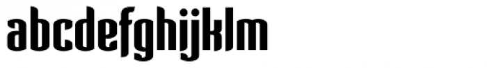 Verve Bold Font LOWERCASE
