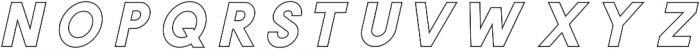 VICTORIA Bold Outline ttf (700) Font UPPERCASE