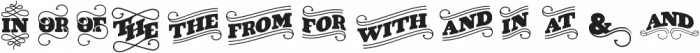 VIDIZ Catchword ttf (400) Font UPPERCASE
