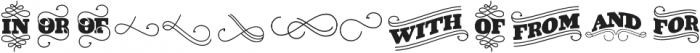 VIDIZ Catchword ttf (400) Font LOWERCASE