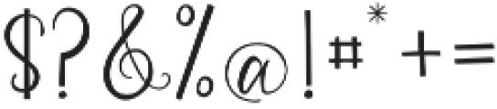 Vianette Script otf (400) Font OTHER CHARS