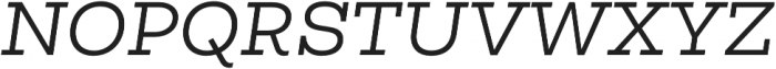 Vicky Normal Italic otf (400) Font UPPERCASE