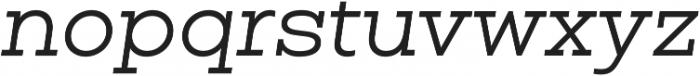 Vicky Normal Italic otf (400) Font LOWERCASE