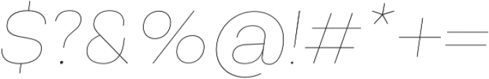 Vicky Thin Italic otf (100) Font OTHER CHARS
