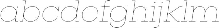 Vicky Thin Italic otf (100) Font LOWERCASE