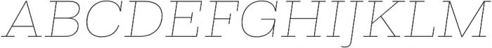 Vicky UltraLight Italic otf (300) Font UPPERCASE